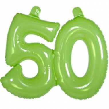 Groene opblaascijfers 50