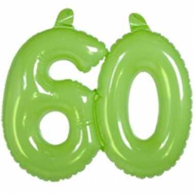 Groene opblaascijfers 60