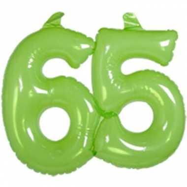Groene opblaascijfers 65