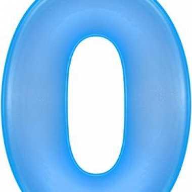 Opblaascijfer 0 blauw