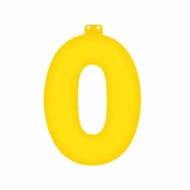 Opblaas cijfer 0 geel